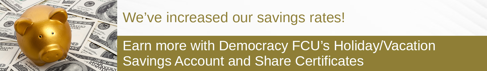 Special Offers From Democracy FCU
